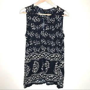 Lucky Brand sleeveless boho style top